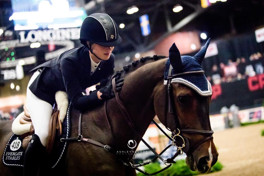 Jenn Gates and Alex at the 2017 National Horse Show. Photo by Ashley Neuhof Photography.