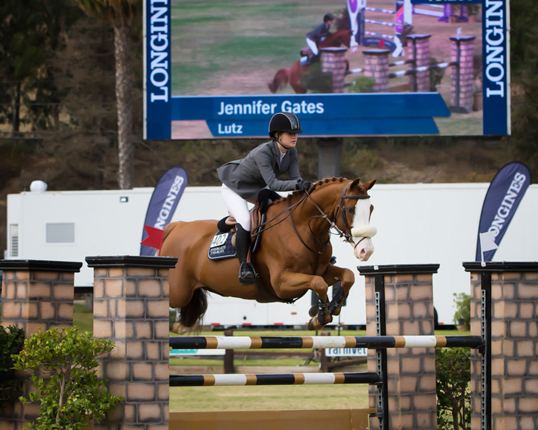 Jenn Gates and Lutz at the 2017 Del Mar World Cup Qualifier. Photo by McCool Photography.