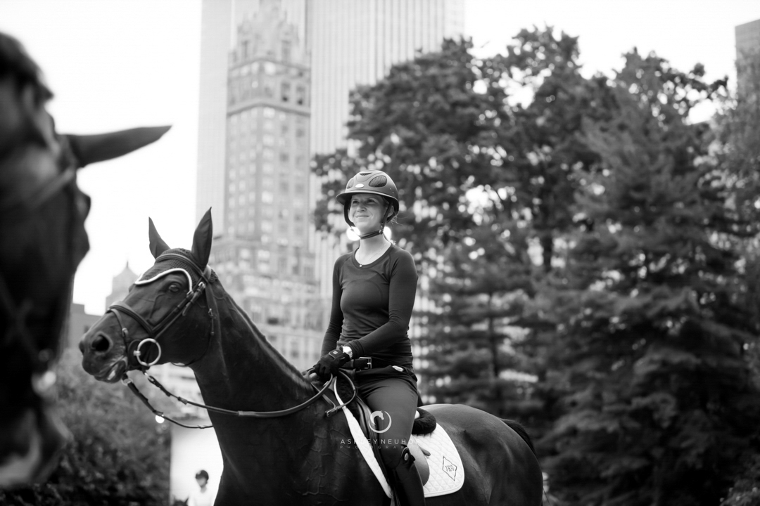 Sayre Happy and Dolinn at the 2017 Central Park Horse Show. Photo by Ashley Neuhof Photography.
