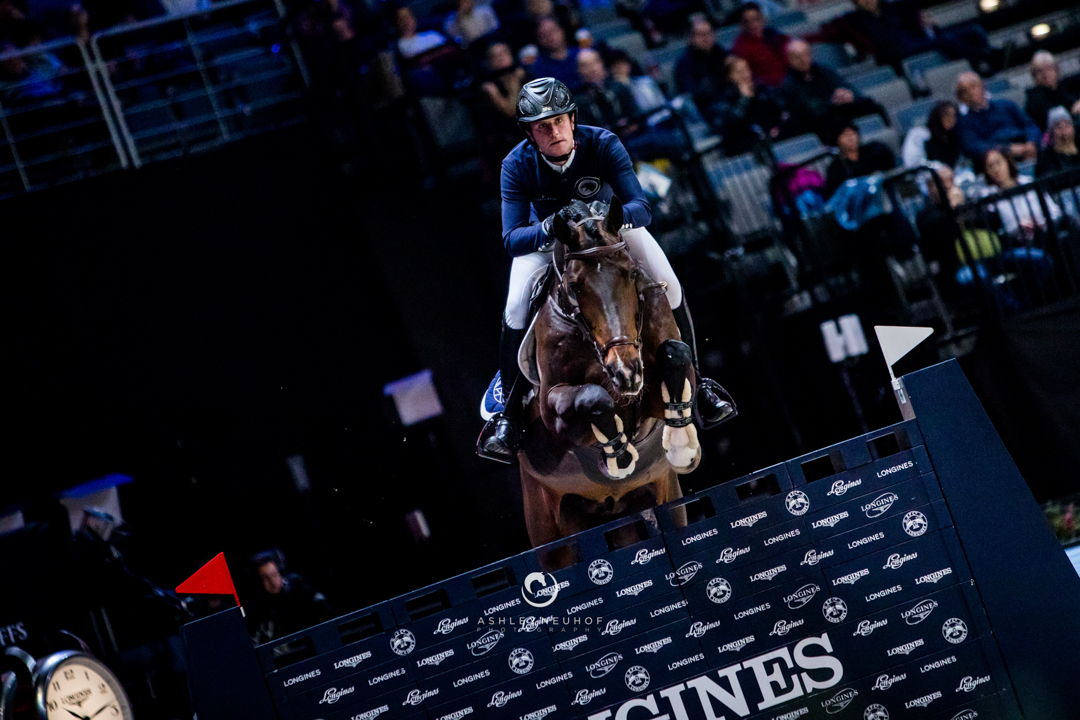 Darragh Kenny and Balou de Reventon in the GCL Prague Playoffs. Photo by Ashley Neuhof Photography.