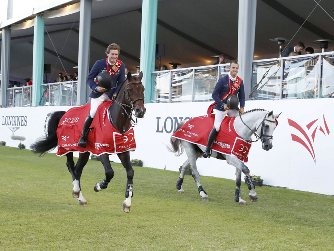 Darragh Kenny and Balou du Reventon and Gregory Wathelet and Mjt Nevados S at GCL Cascais. Photo by Stefano Grasso.