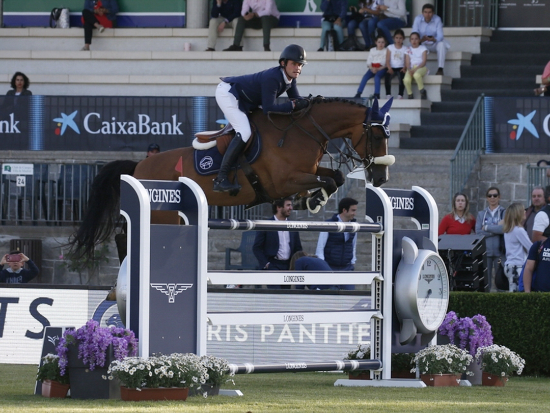 Darragh Kenny and Cassini Z at the 2018 Global Champions League of Madrid. Photo by Sportfot.