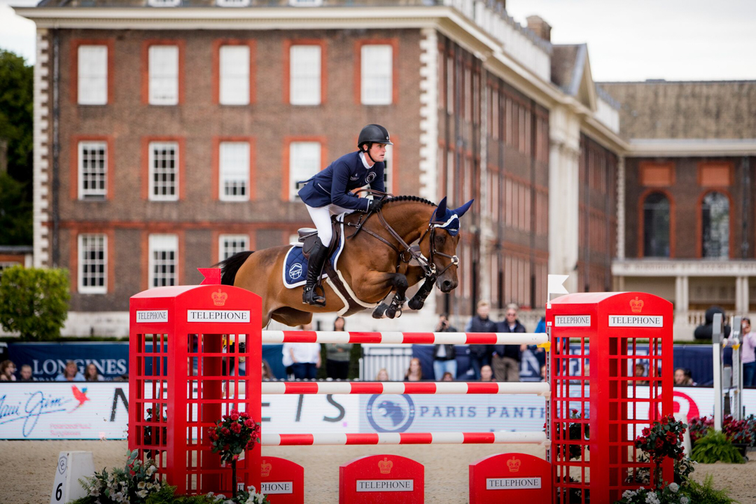 Darragh Kenny and Team de Coquerie at the 2017 Global Champions League of London. Photo by Stefano Grasso.