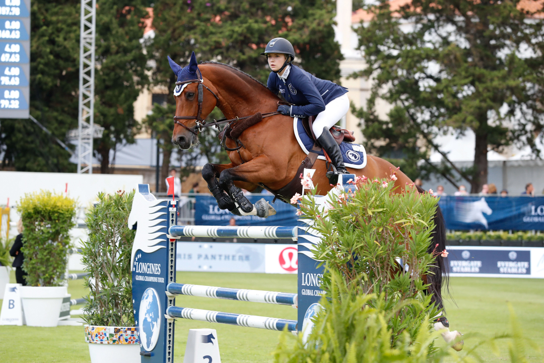 Lillie Keenan and Skyhorse at the 2017 Global Champions League of Cascais. Photo by Stefano Grasso.