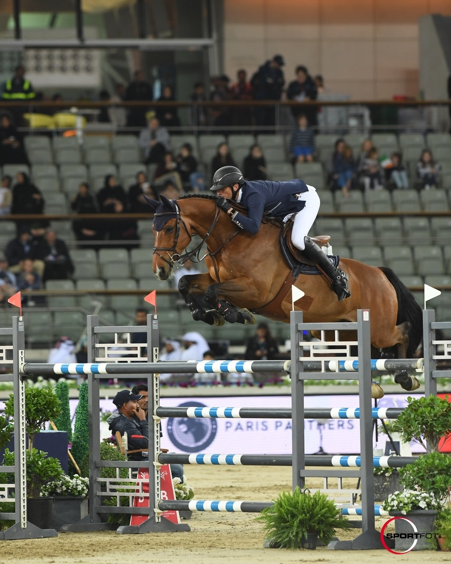 Gregory Wathelet and Qualido 3 at Global Champions League of Doha 2019. Photo by Sportfot.