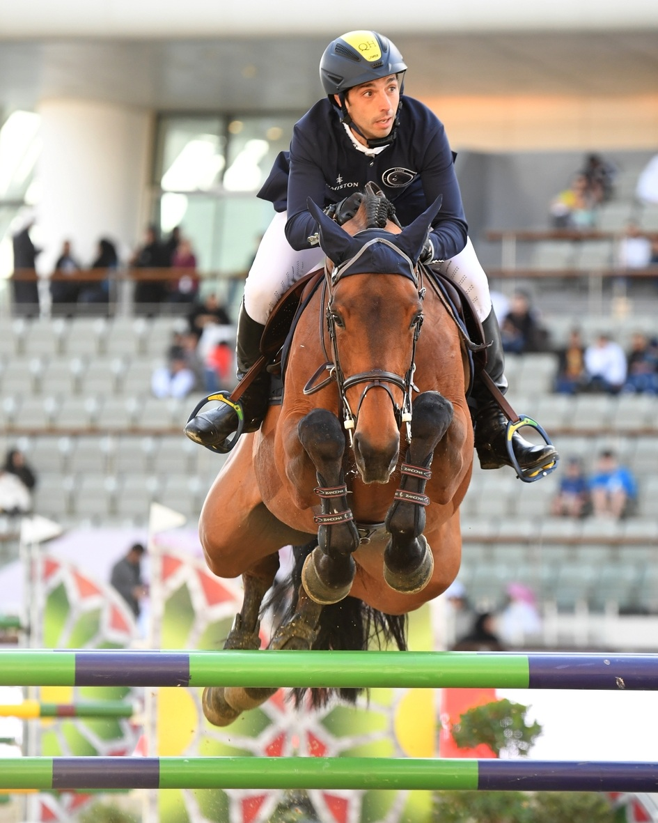 Yuri Mansur and Ibelle Ask at Global Champions League of Doha 2019. Photo by Sportfot.