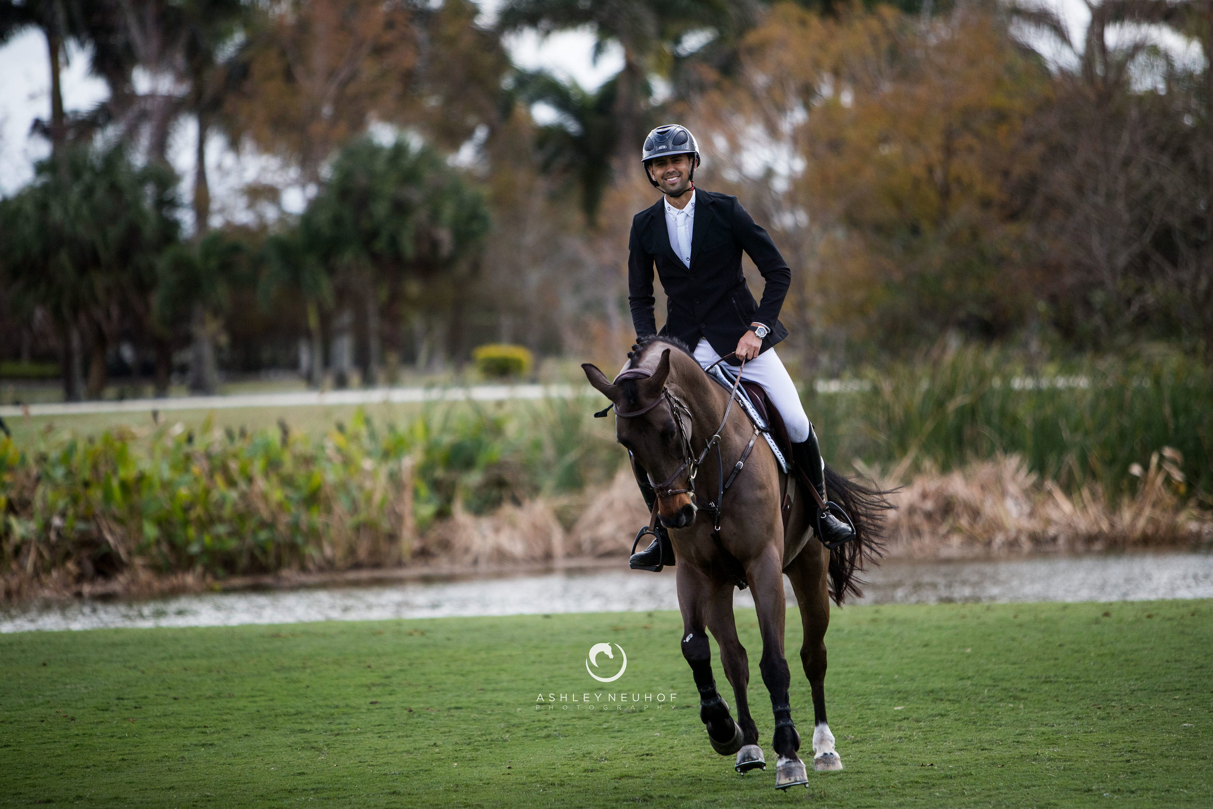 Nayel Nassar and Lucifer V at Palm Beach Masters 2019. Photo by Ashley Neuhof Photography.