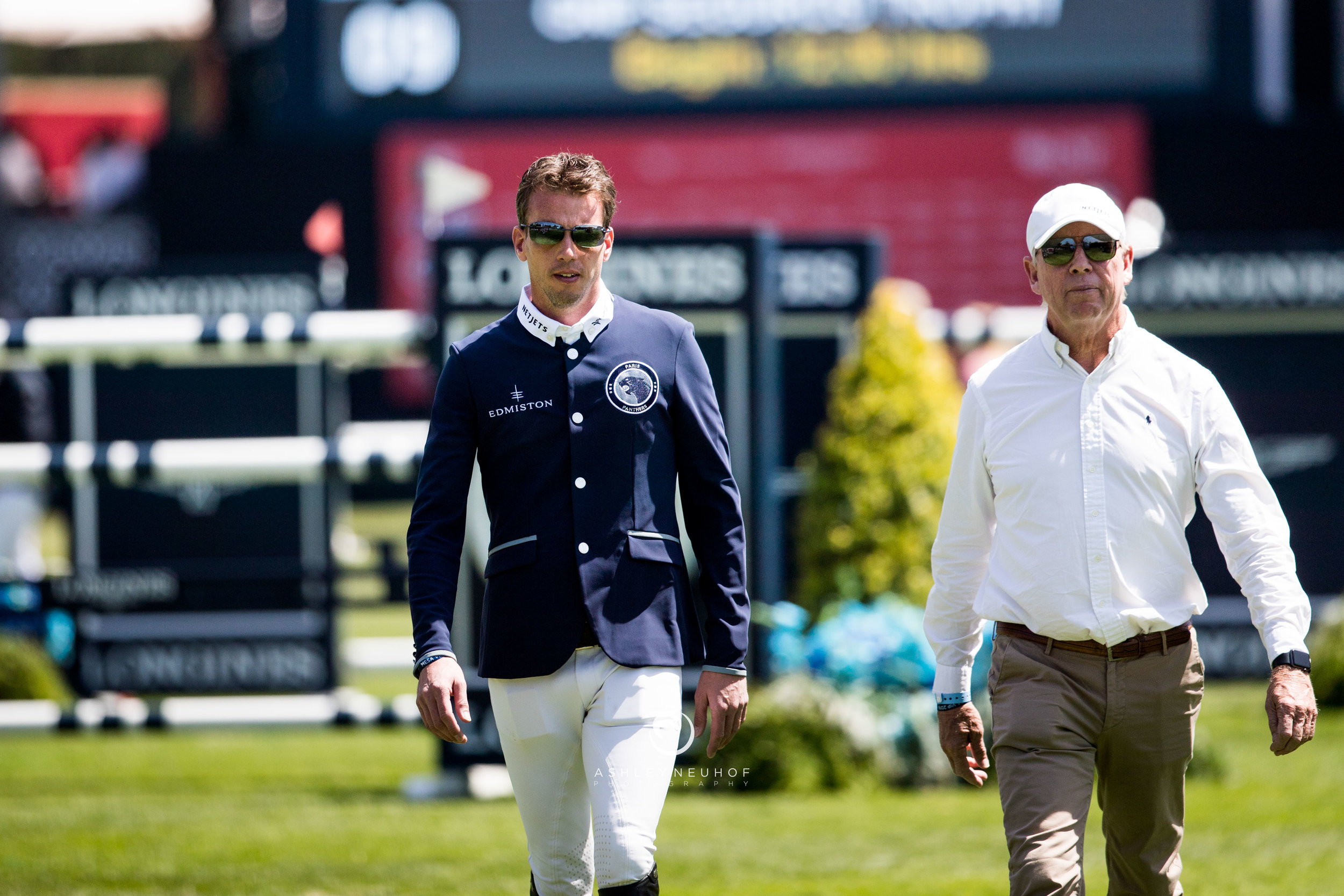 Harrie Smolders and Rob Hoekstra at Global Champions League of Mexico 2019. Photo by Ashley Neuhof Photography.