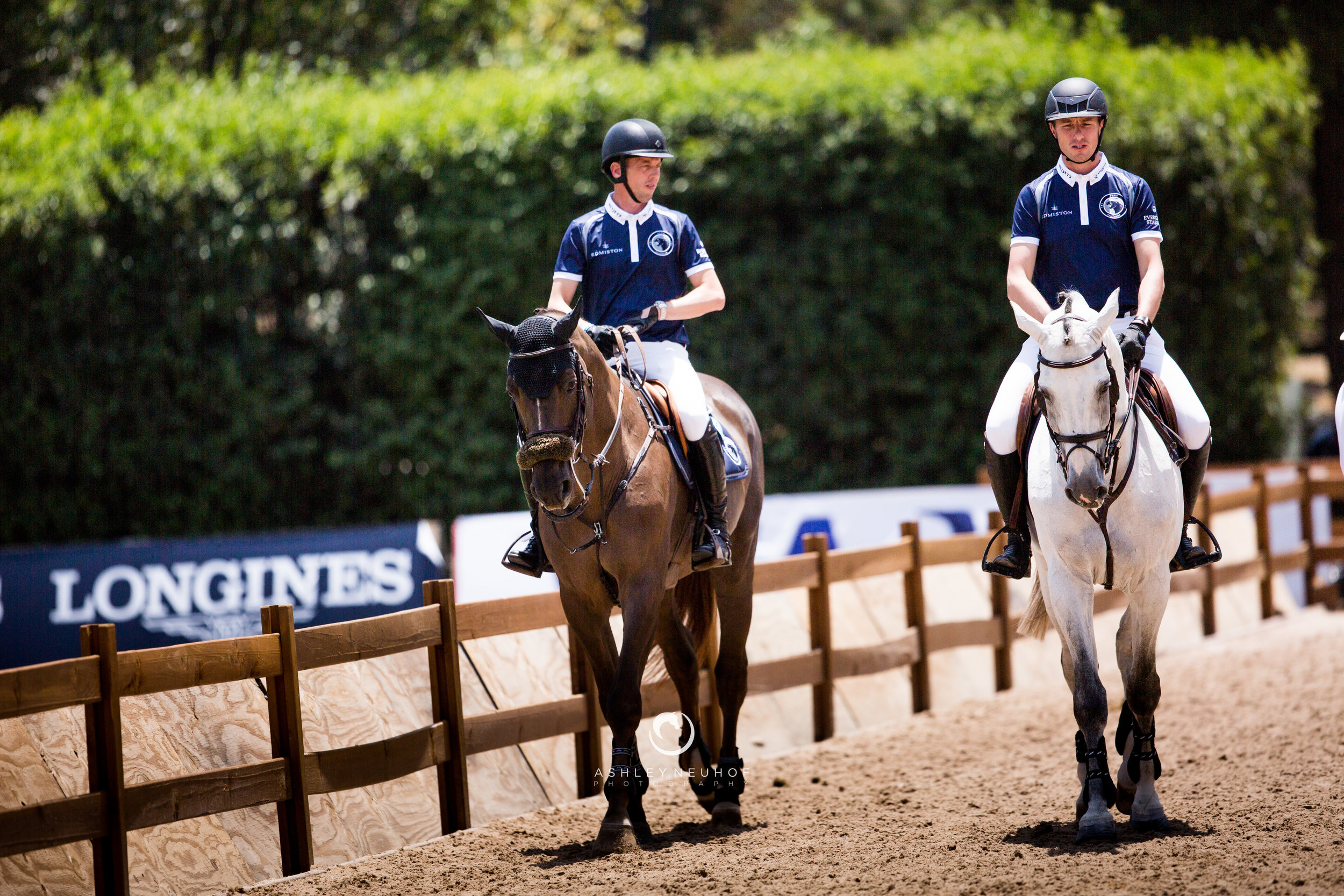 Harrie Smolders and Don VHP Z N.O.P. and Gregory Wathelet and Mjt Nevados S at Global Champions League of Mexico City 2019. Photo by Ashley Neuhof Photography.