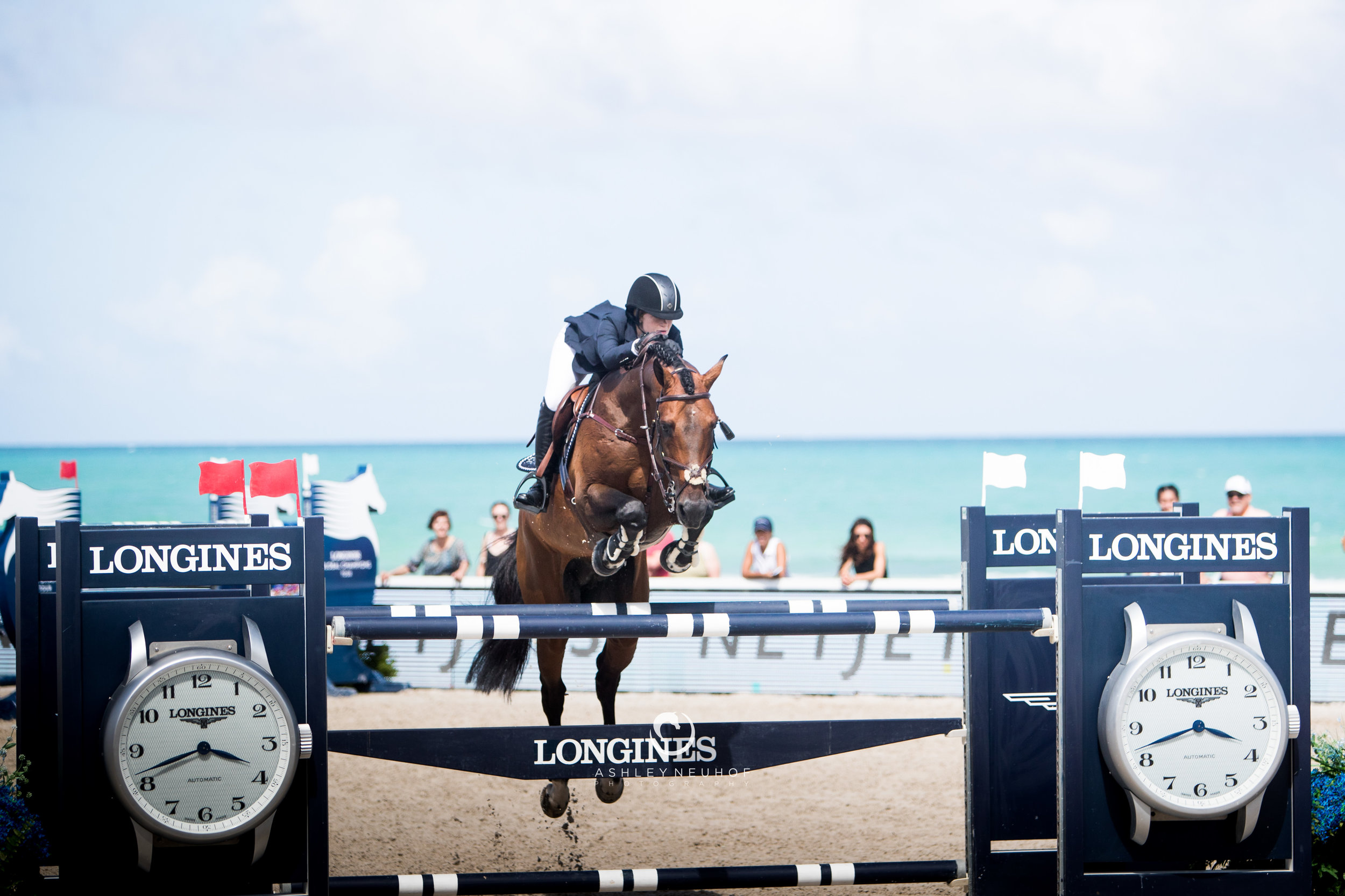 Jenn Gates and Capital Colnardo at Longines Global Champions Tour of Miami 2019. Photo by Ashley Neuhof Photography.