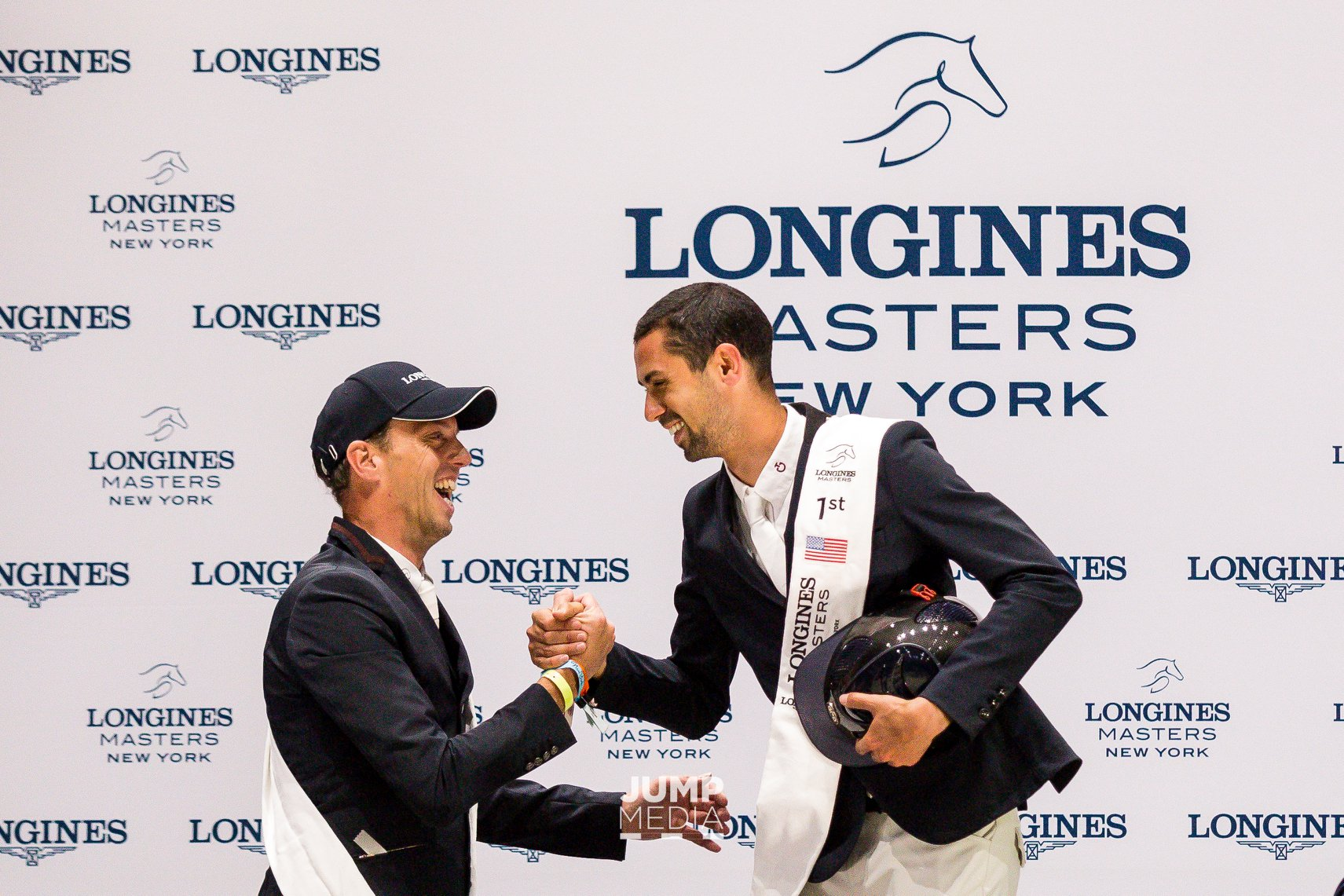 Harrie Smolders and Nayel Nassar at Longines Masters of New York 2019. Photo by Jump Media LLC.
