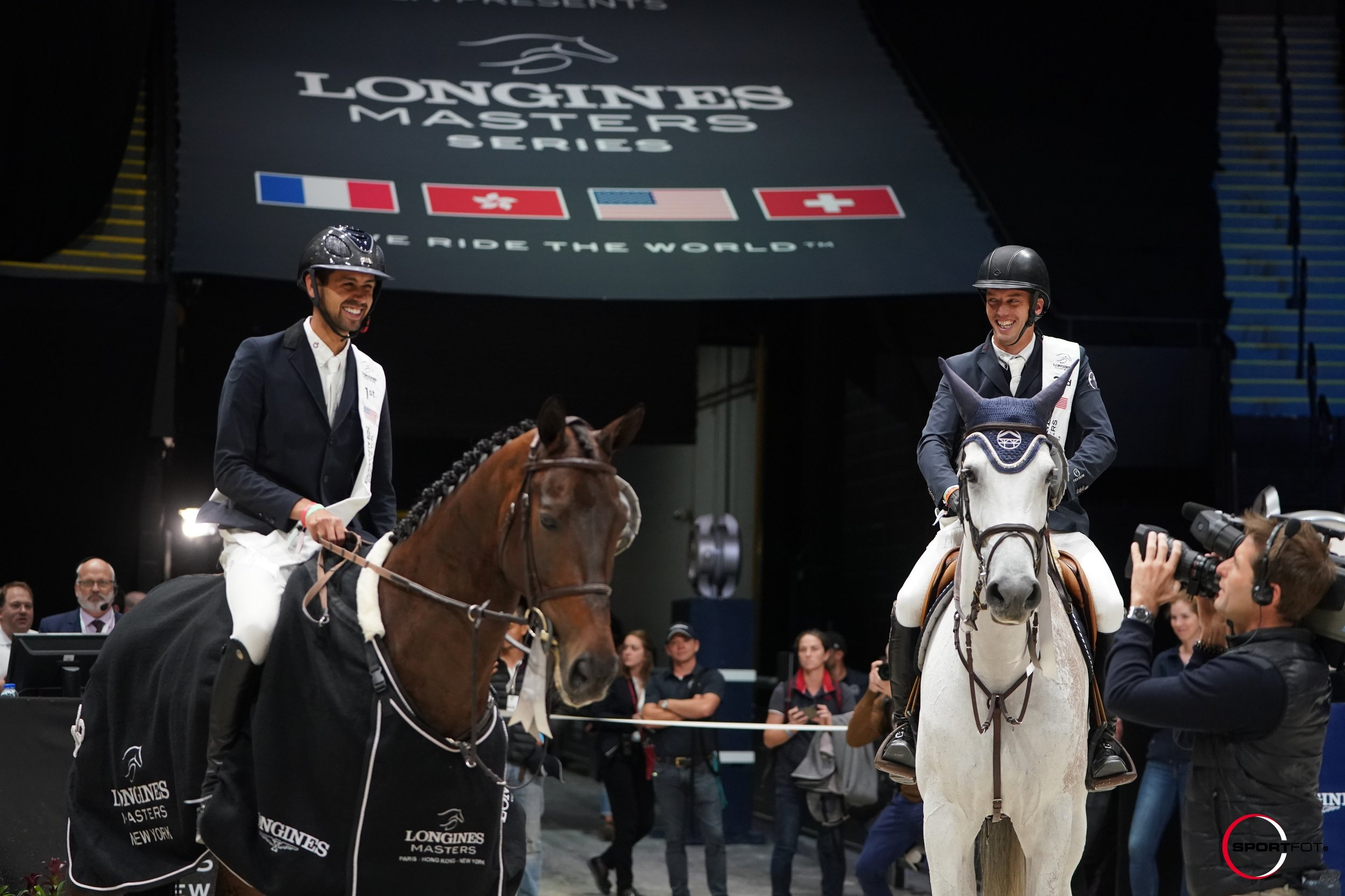 Nayel Nassar and Lucifer V and Harrie Smolders and Une de l'Othain at Longines Masters of New York 2019. Photo by Sportfot.