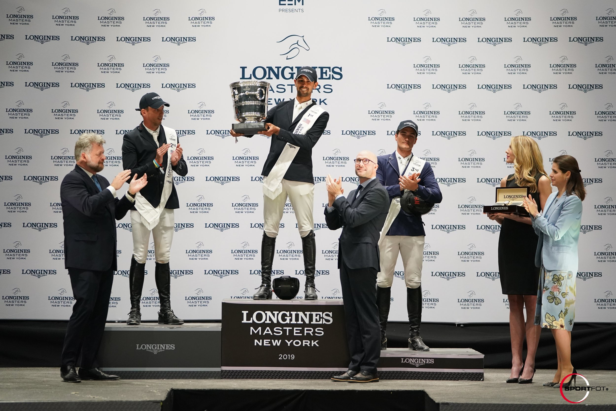 Harrie Smolders and Nayel Nassar at Longines Masters of New York 2019. Photo by Sportfot.