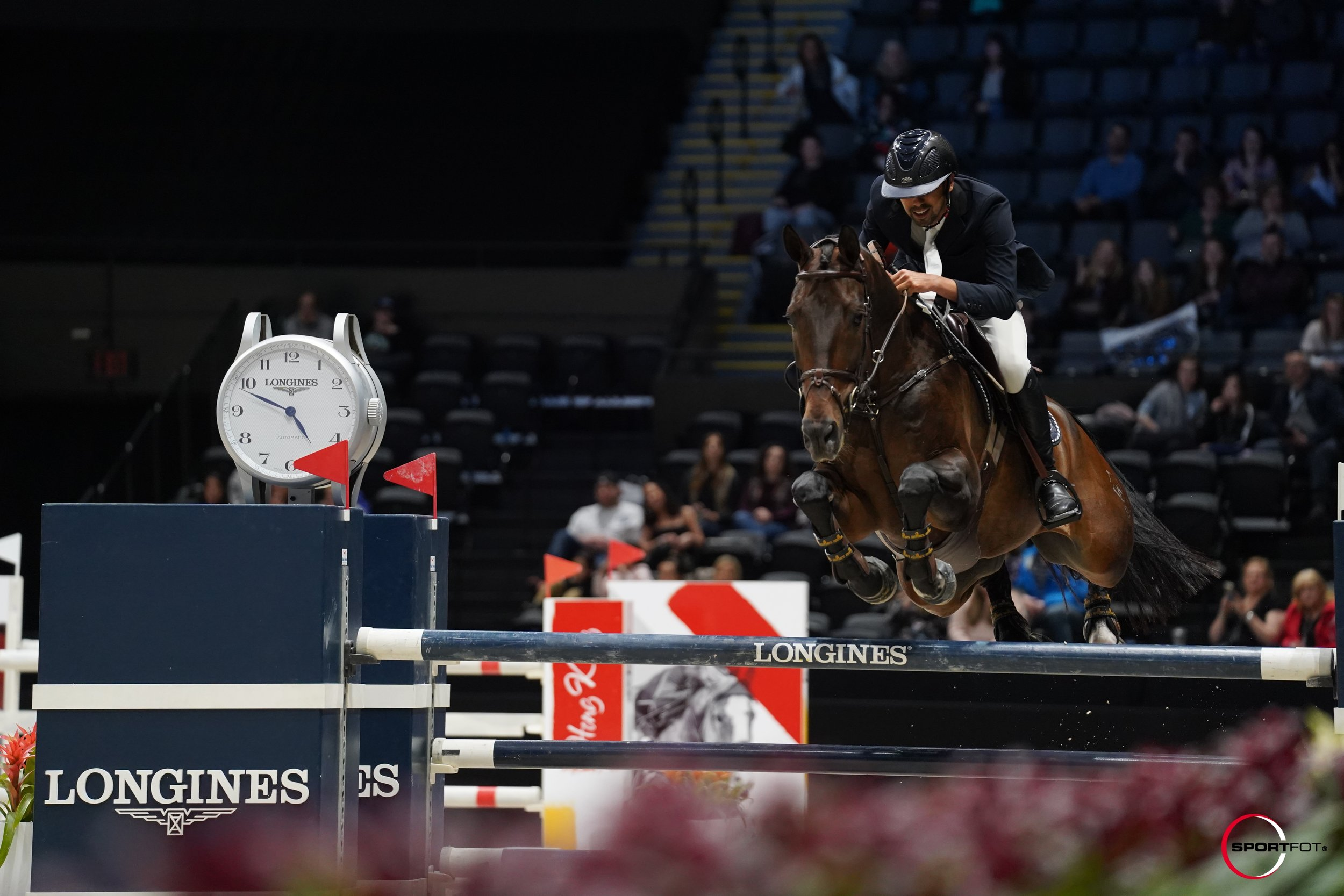Nayel Nassar and Lucifer V at Longines Masters of New York 2019. Photo by Sportfot.