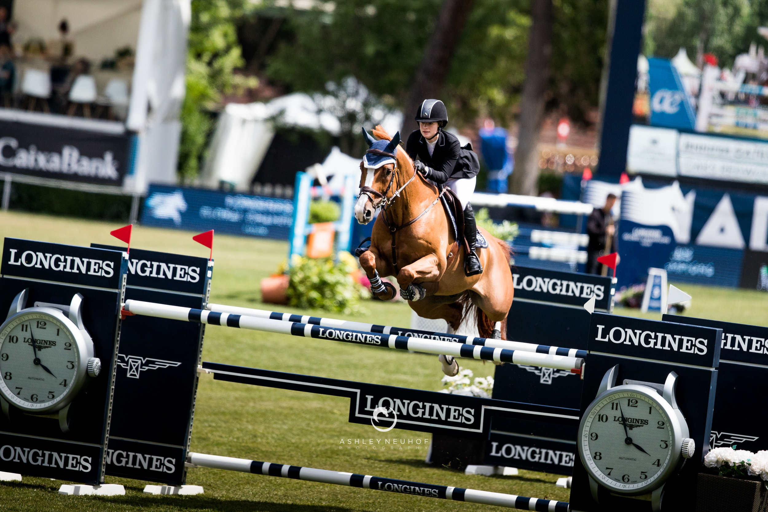 Jenn Gates and Oaks Redwood at Longines Global Champions Tour of Madrid 2019. Photo by Ashley Neuhof Photography.