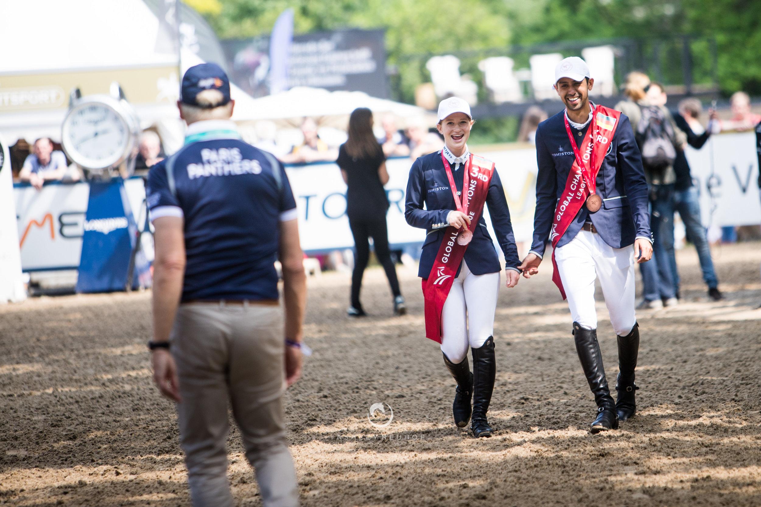 Jenn Gates and Nayel Nassar at Global Champions Tour of Hamburg 2019. Photo by Ashley Neuhof Photography.