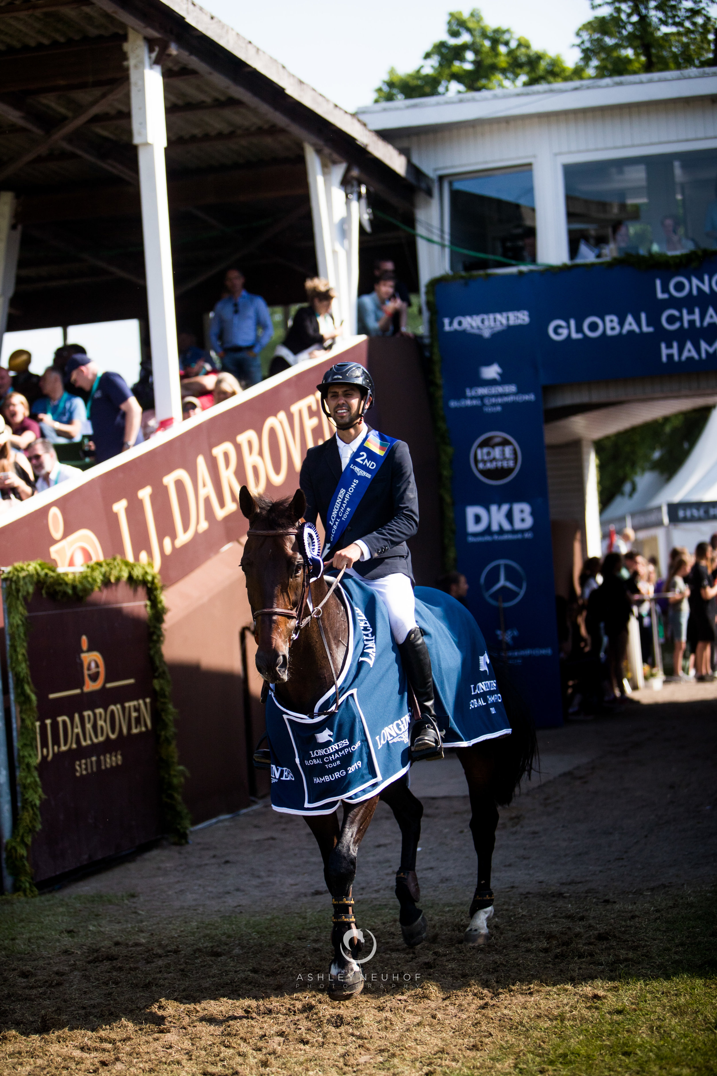 Nayel Nassar and Lucifer V at Longines Global Champions Tour of Hamburg 2019. Photo by Ashley Neuhof Photography.