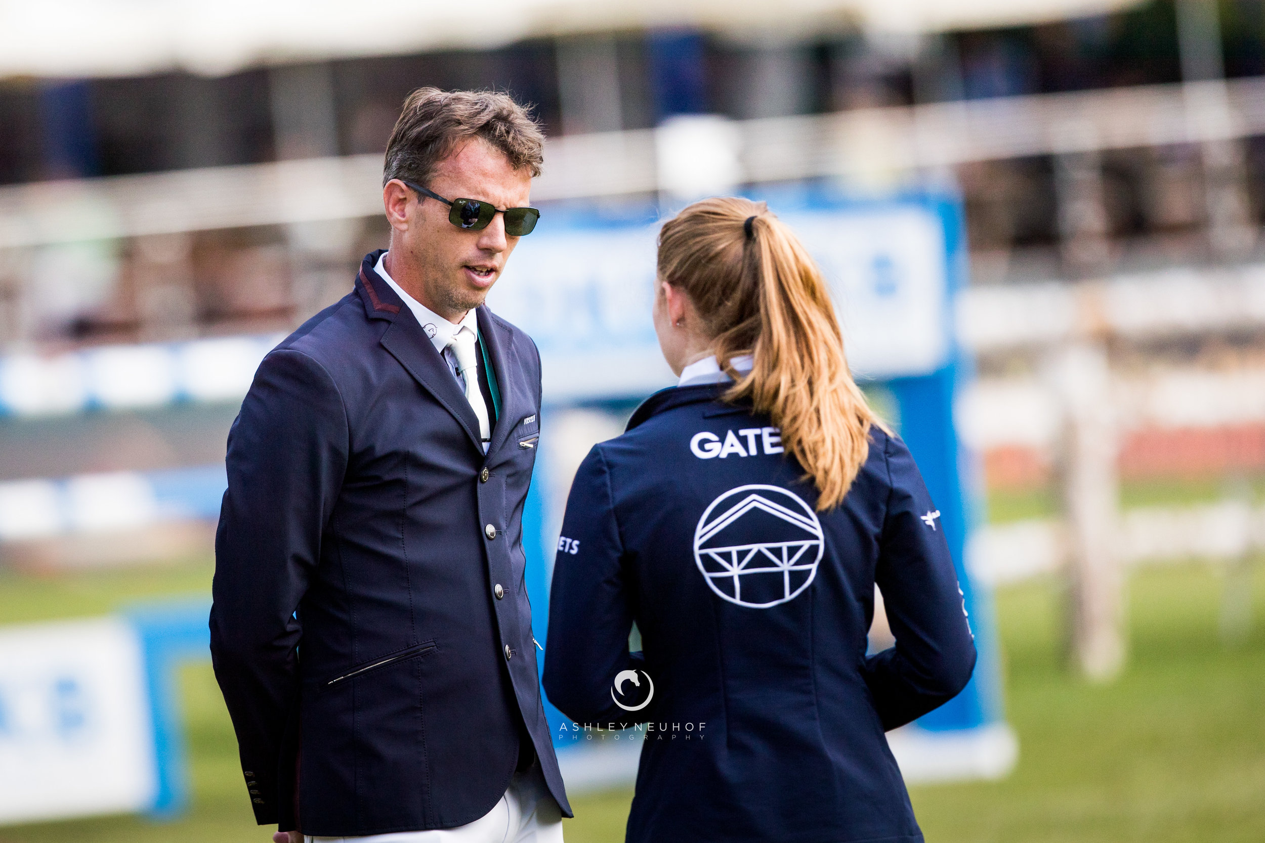 Harrie Smolders and Jenn Gates at Longines Global Champions Tour of Hamburg 2019. Photo by Ashley Neuhof Photography.