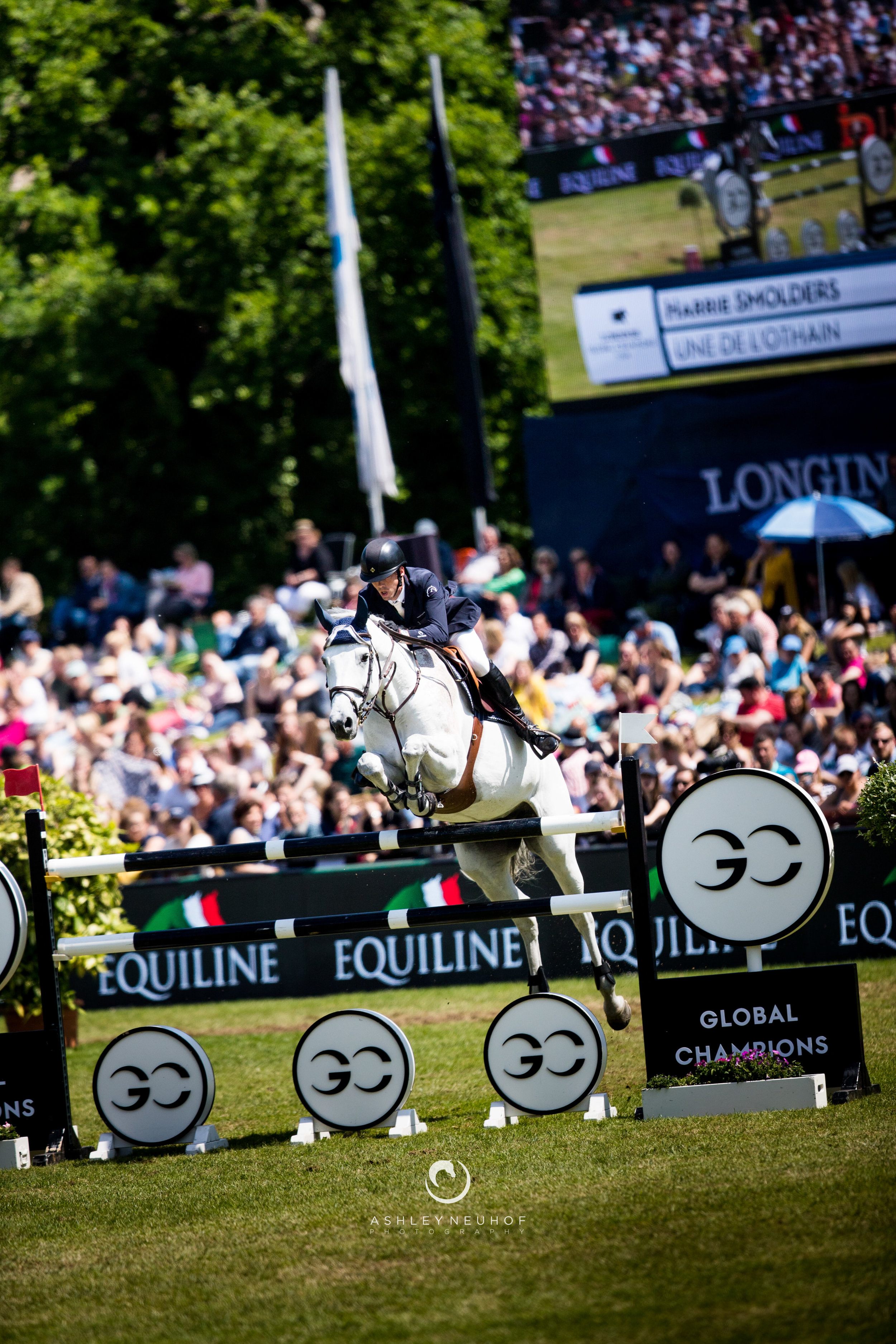 Jenn Gates and Pumped Up Kicks at Longines Global Champions Tour of Hamburg 2019. Photo by Ashley Neuhof Photography.