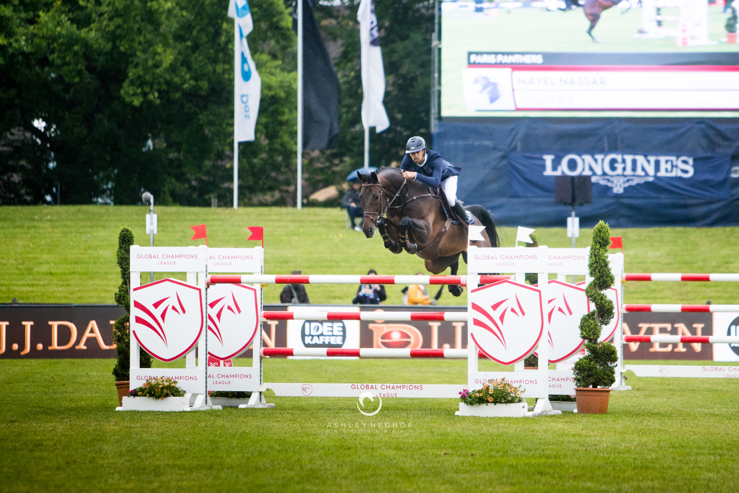 Jenn Gates and Capital Colnardo at Longines Global Champions Tour of Hamburg 2019. Photo by Ashley Neuhof Photography.