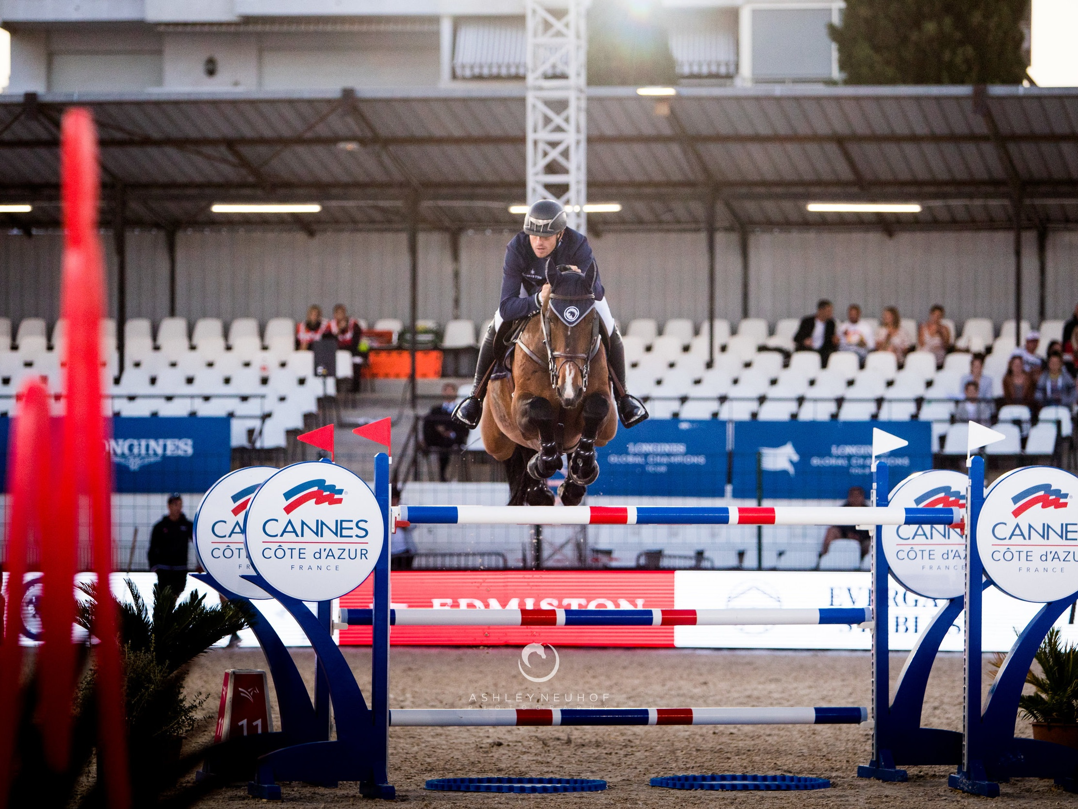 Gregory Wathelet and Full House Ter Linden Z at Global Champions League of Cannes 2019. Photo by Ashley Neuhof Photography.