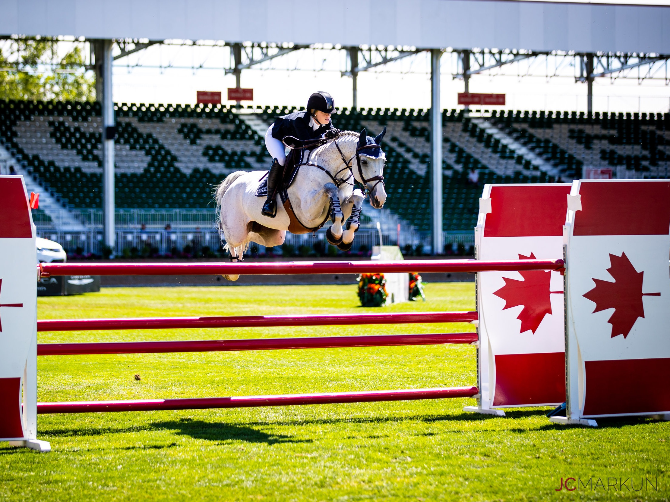 Jenn Gates and Pumped Up Kicks at Spruce Meadows CSI 5* by Rolex 2019. Photo by JC Markun.