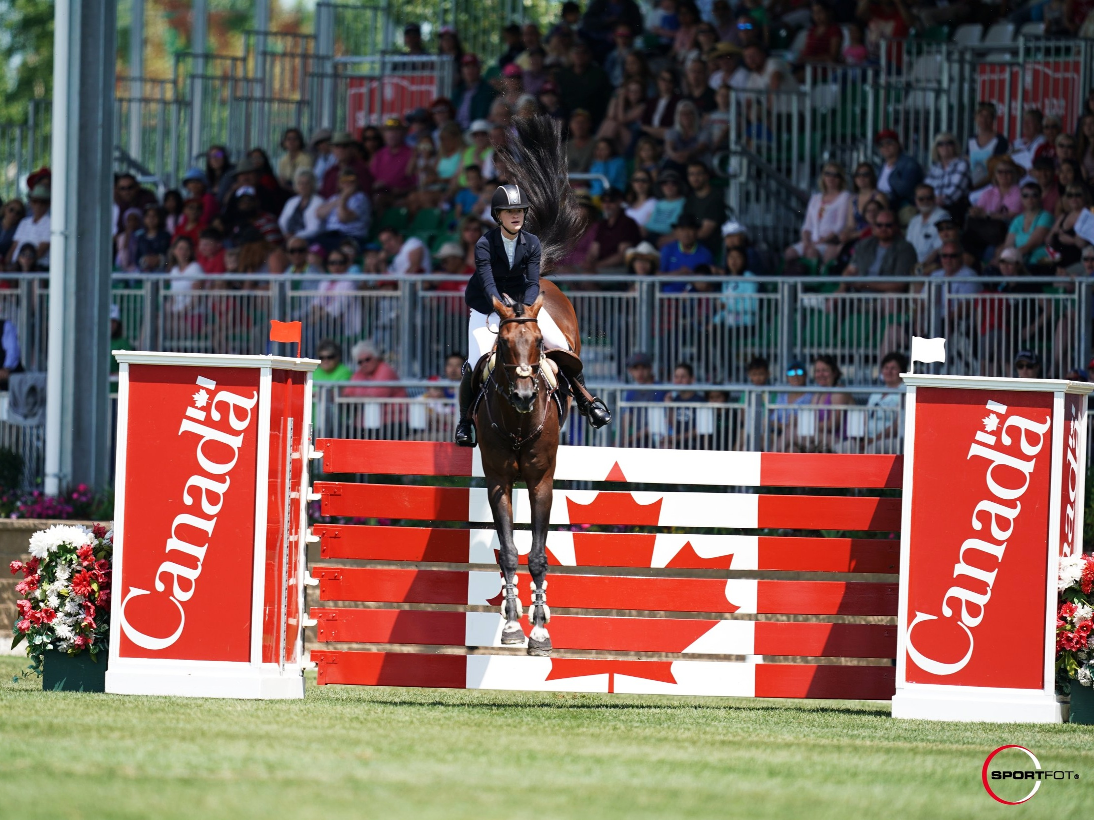 Jenn Gates and Capital Colnardo at Spruce Meadows CSI 5* by Rolex 2019. Photo by Sportfot.