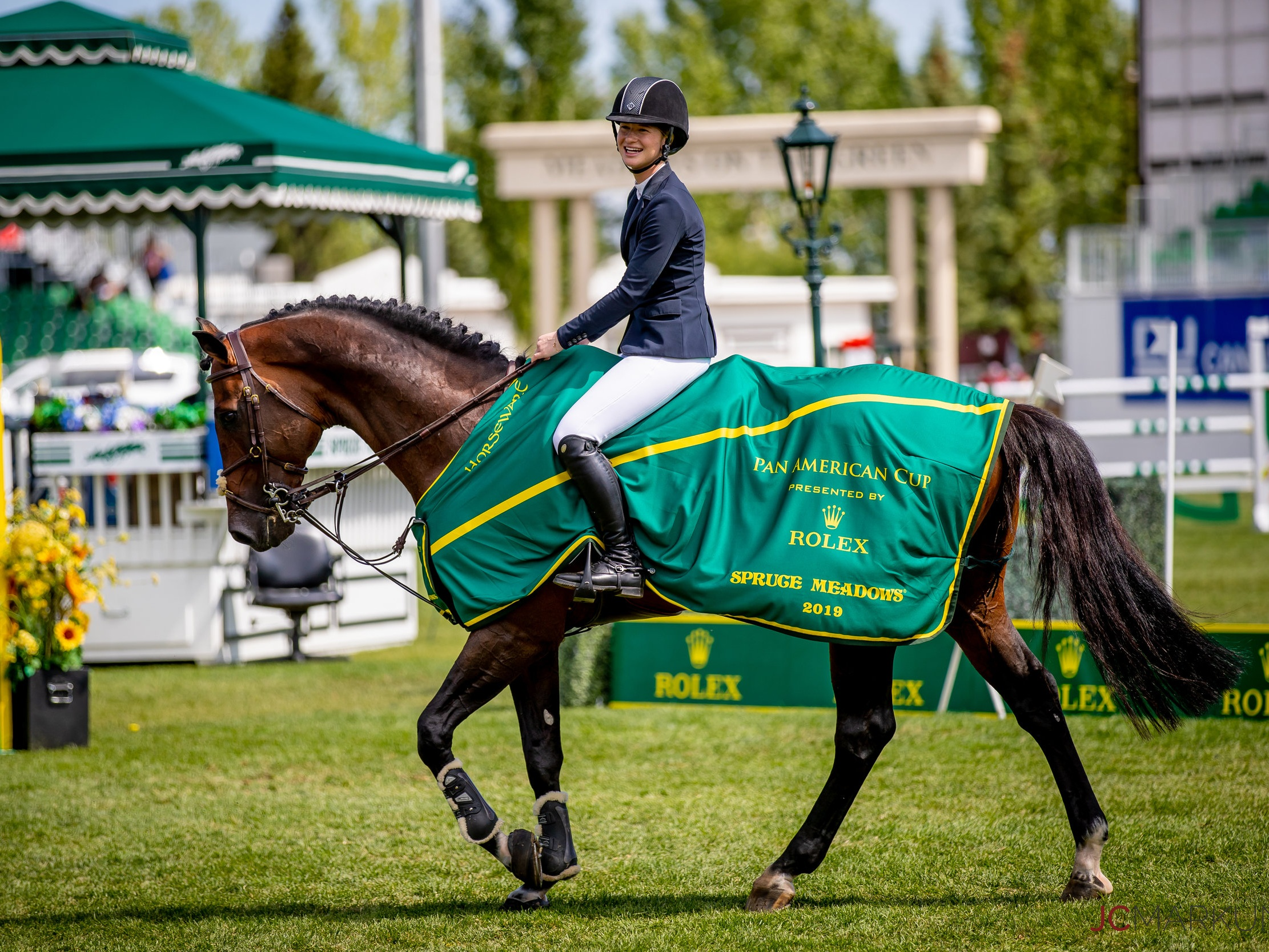 Jenn Gates and Capital Colnardo at Spruce Meadows CSI 5* by Rolex 2019. Photo by JC Markun.