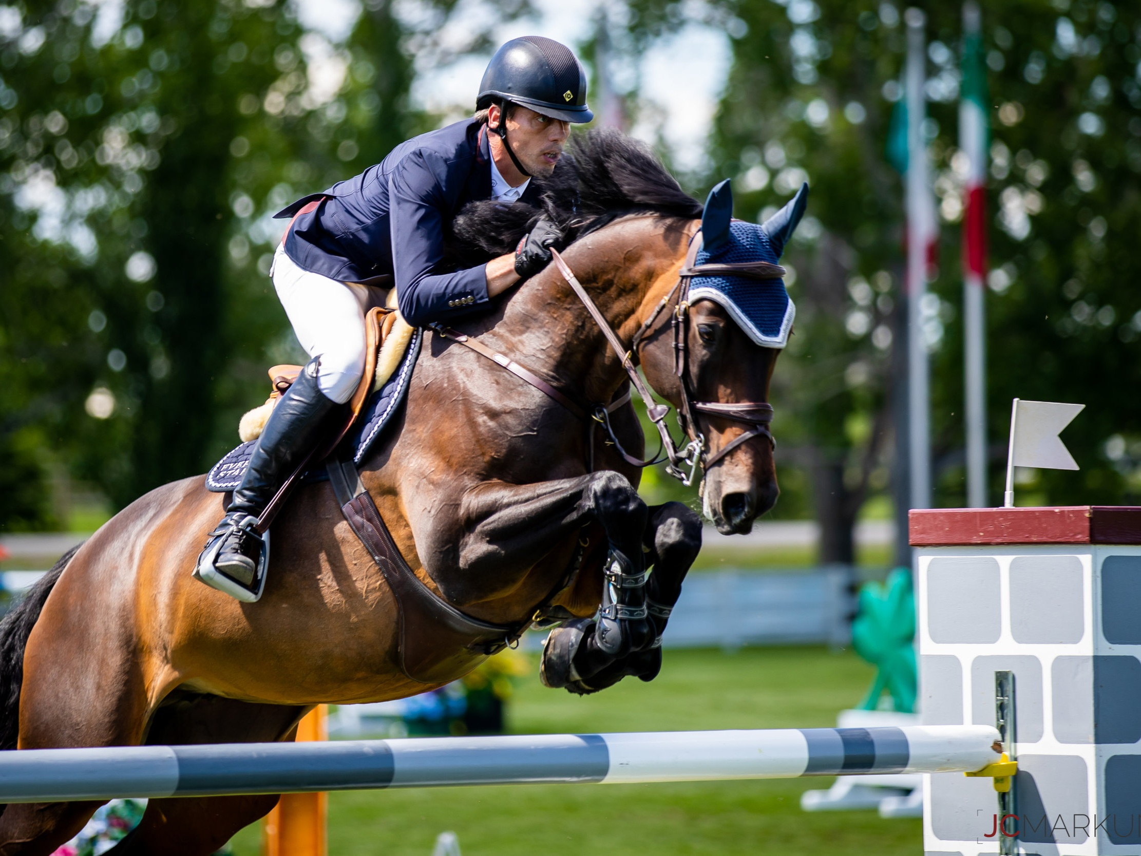 Harrie Smolders and Dolinn at Spruce Meadows CSI 5* by Rolex 2019. Photo by JC Markun.