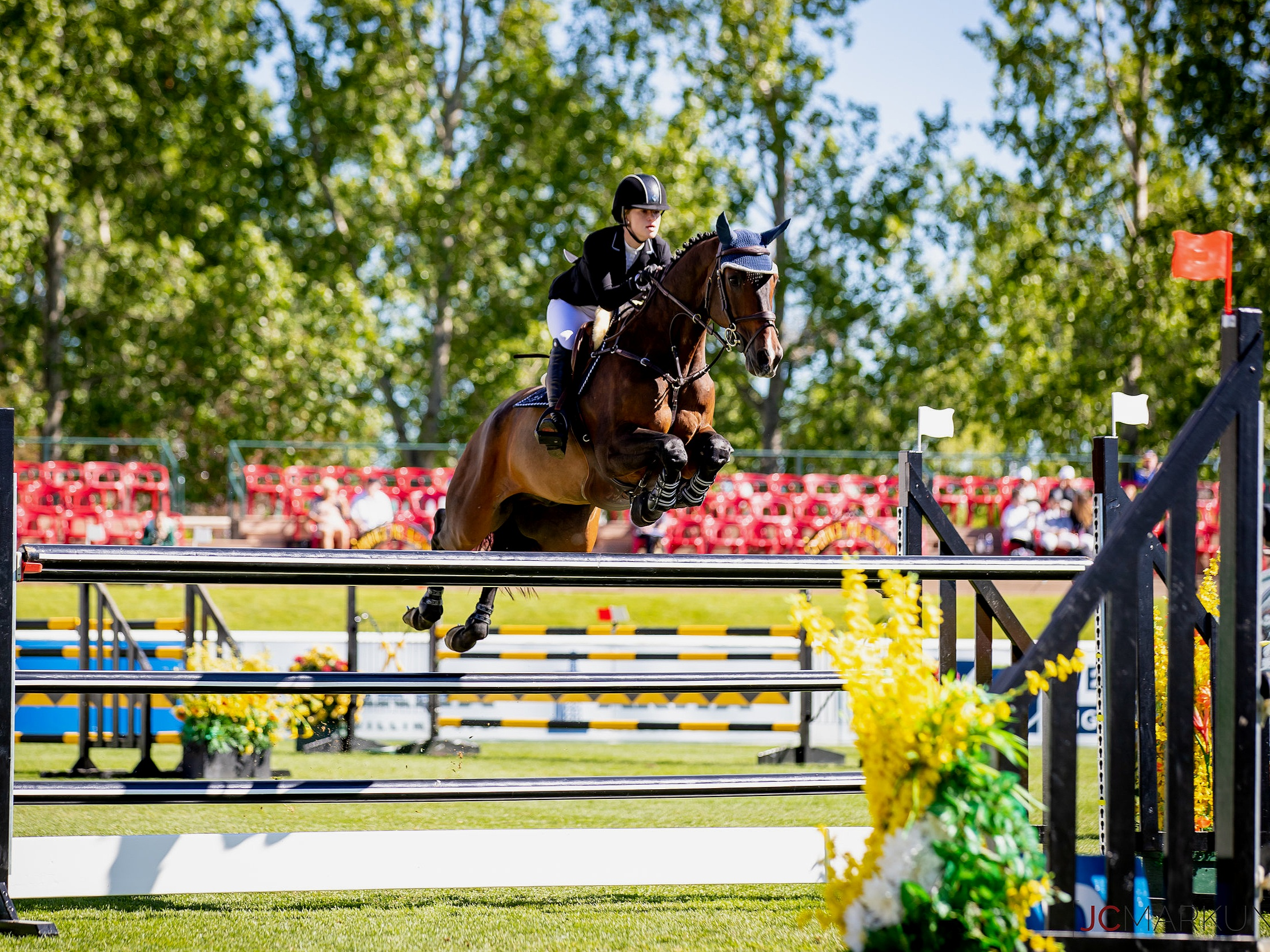 Jenn Gates and Alex at Spruce Meadows CSI 5* by Rolex 2019. Photo by JC Markun.