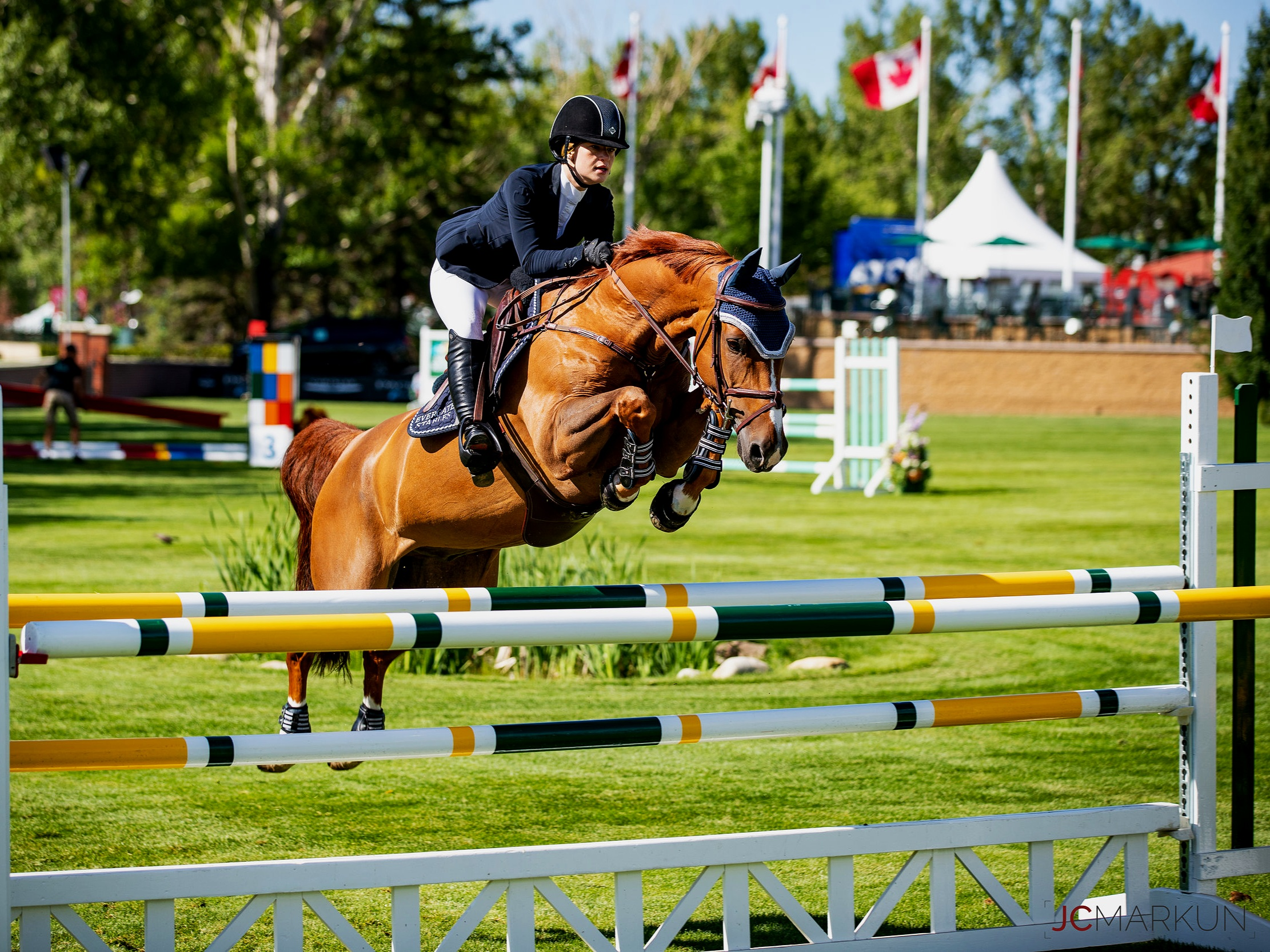 Jenn Gates and Hocus Pocus de Muze at Spruce Meadows CSI 5* by Rolex 2019. Photo by JC Markun.