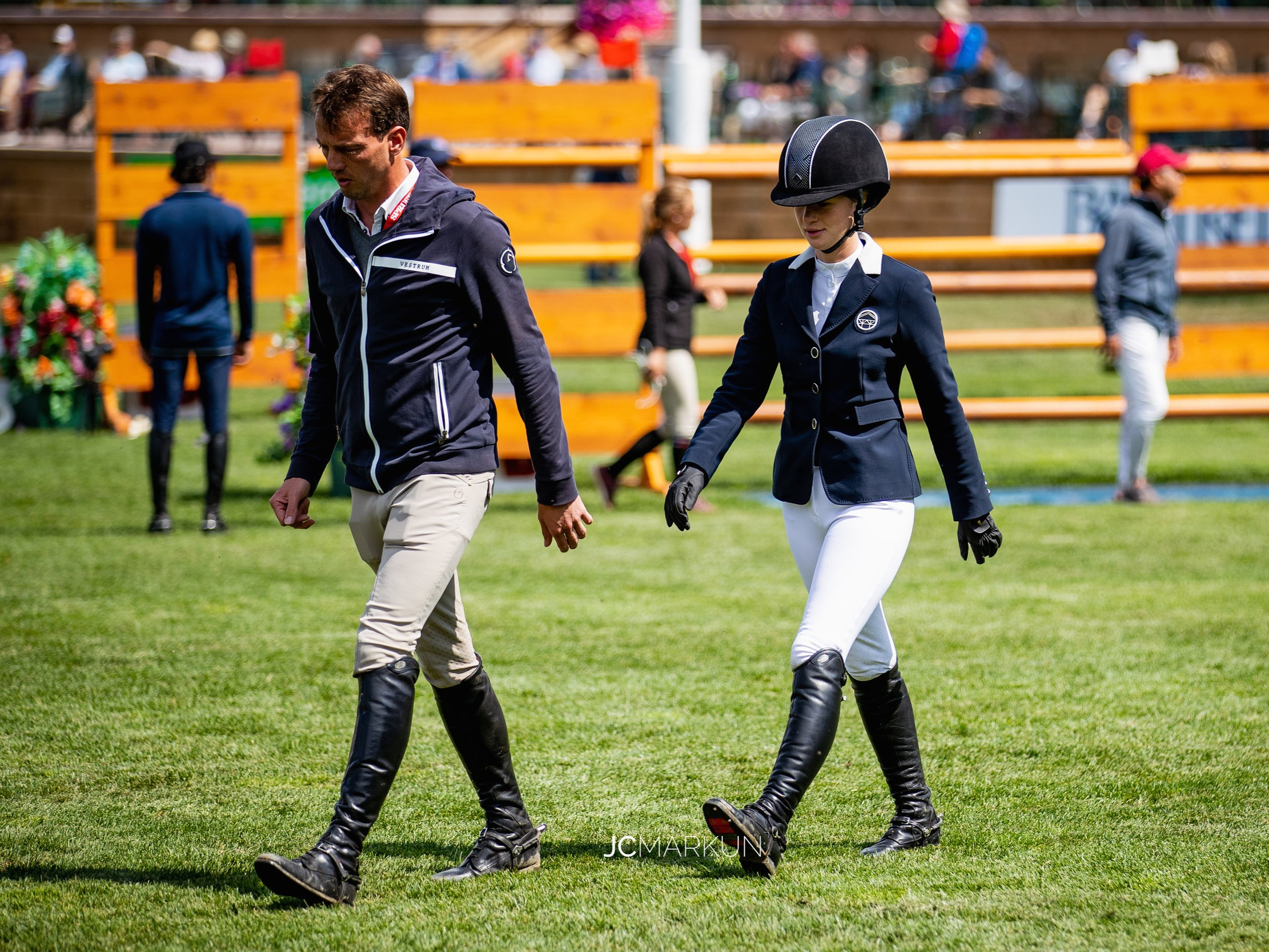 Jenn Gates and Harrie Smolders at Spruce Meadows CSI 5* by Rolex 2019. Photo by JC Markun.