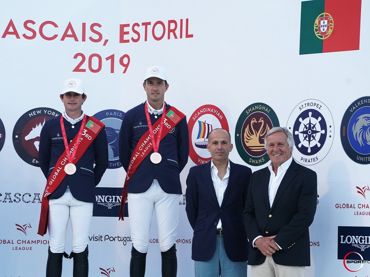 Darragh Kenny and Gregory Wathelet at Global Champions League of Cascais 2019. Photo by Sportfot.