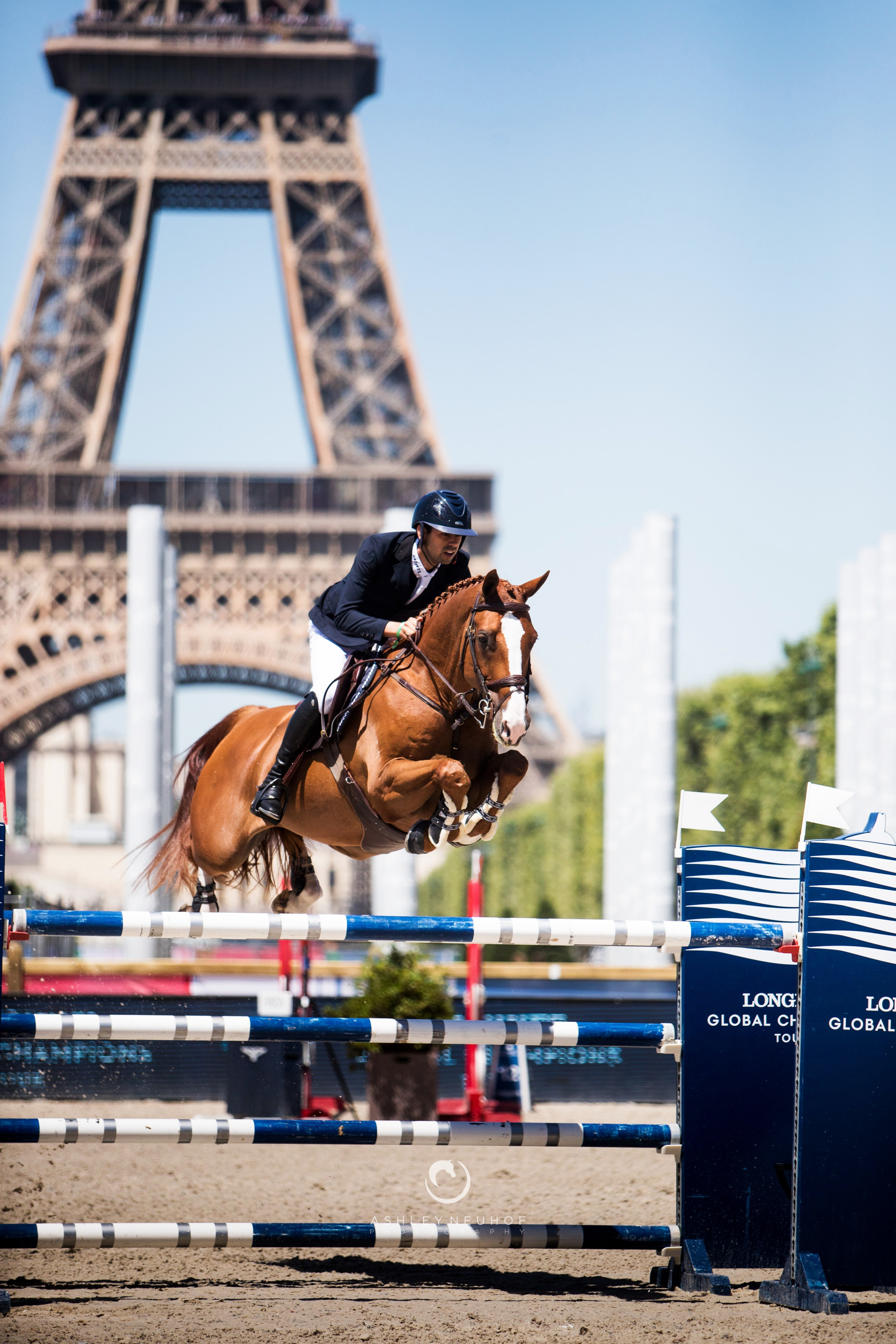 Nayel Nassar and Oaks Redwood at Longines Global Champions Tour of Paris 2019. Photo by Ashley Neuhof Photography.
