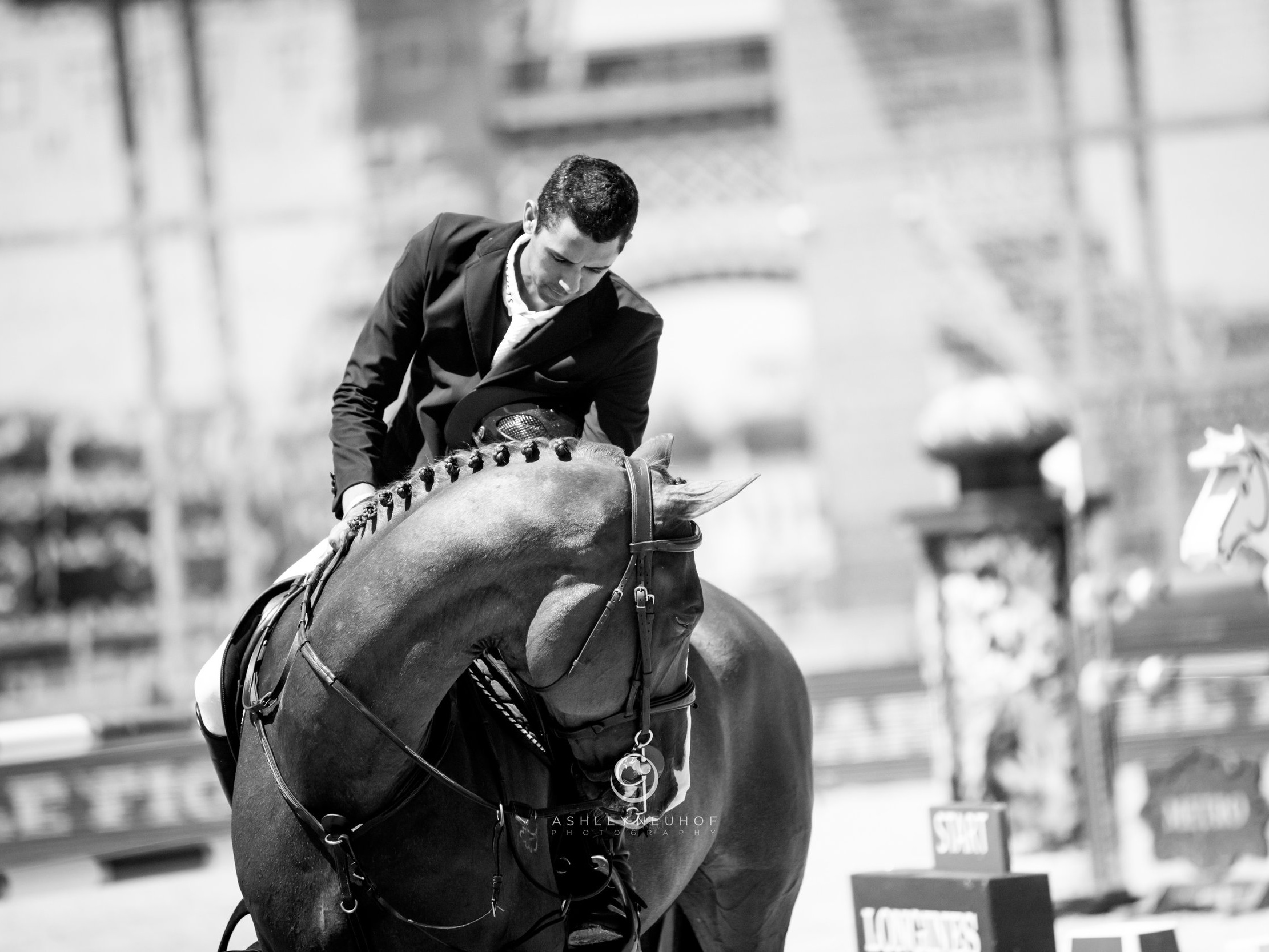 Nayel Nassar and Oaks Redwood at Longines Global Champions Tour of Paris 2019. Photo by Ashley Neuhof Photgraphy.