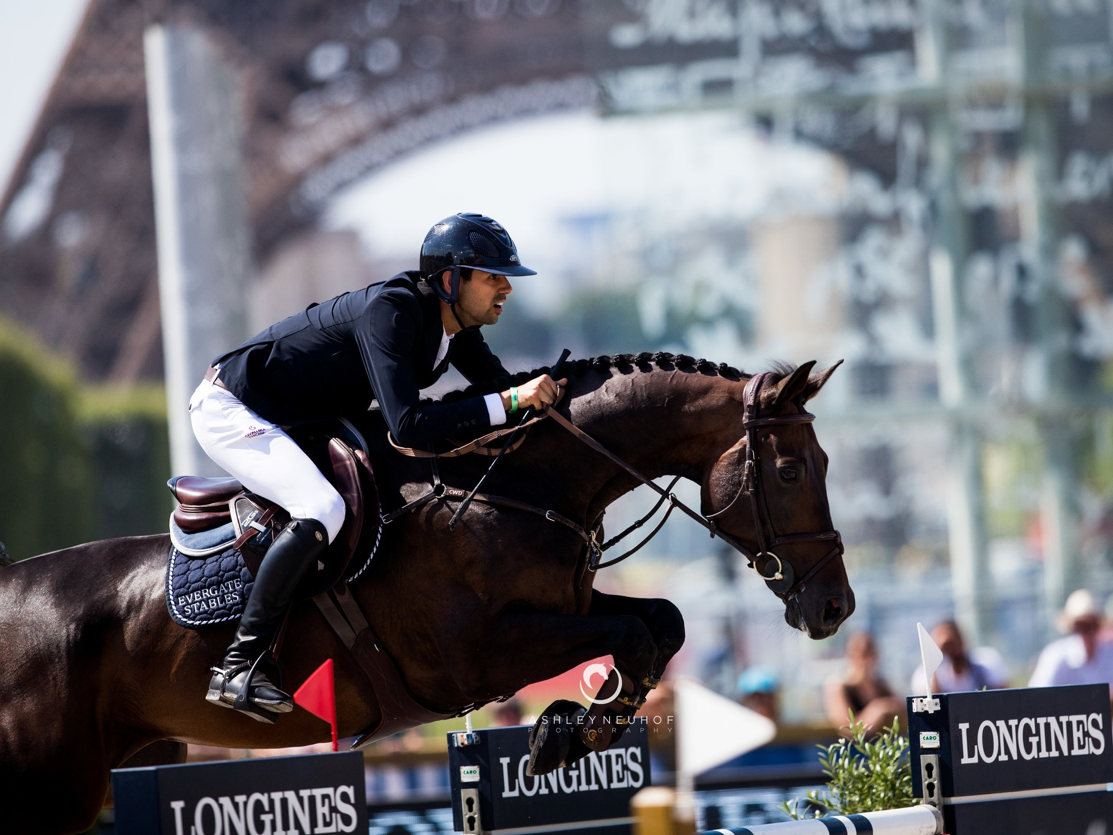 Nayel Nassar and Lucifer V at Longines Global Champions Tour of Paris 2019. Photo by Ashley Neuhof Photography.