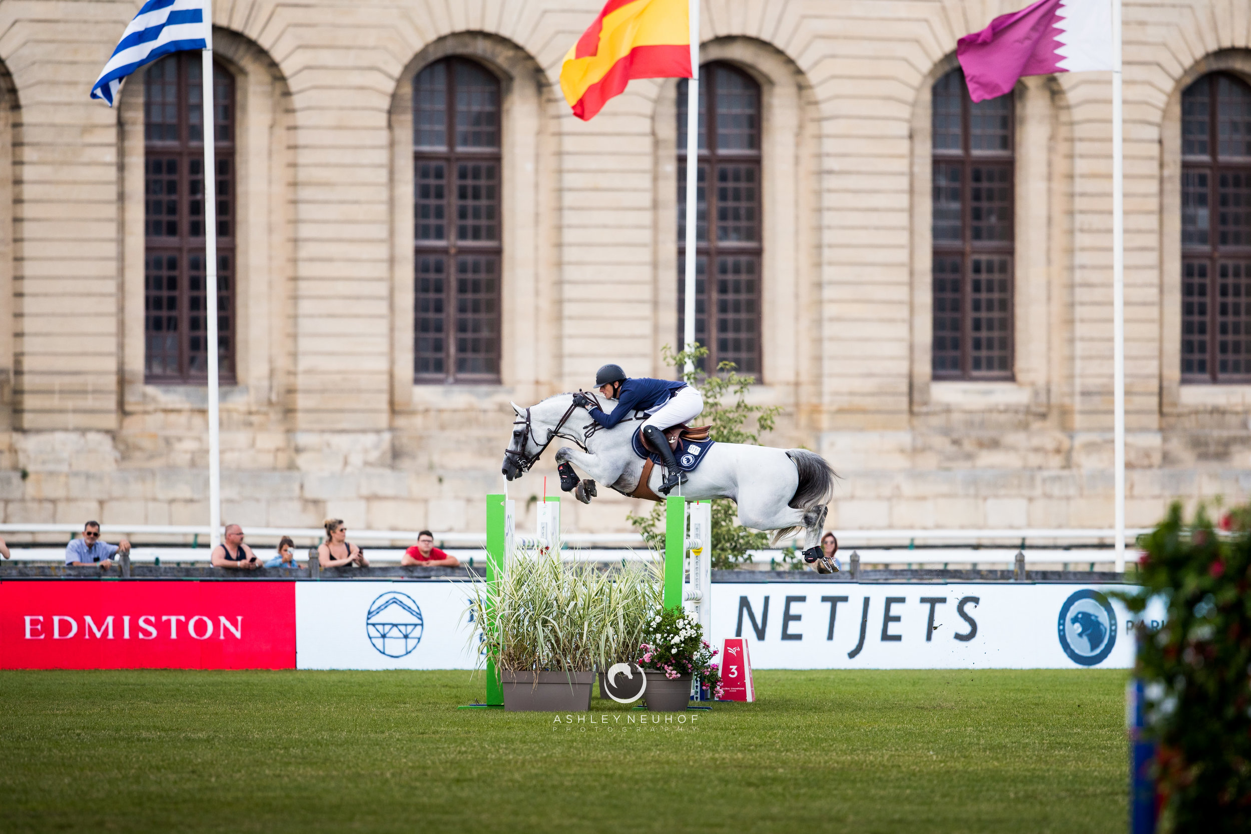 Gregory Wathelet and Mjt Nevados S at Global Champions League of Chantilly 2019. Photo by Ashley Neuhof Photography.
