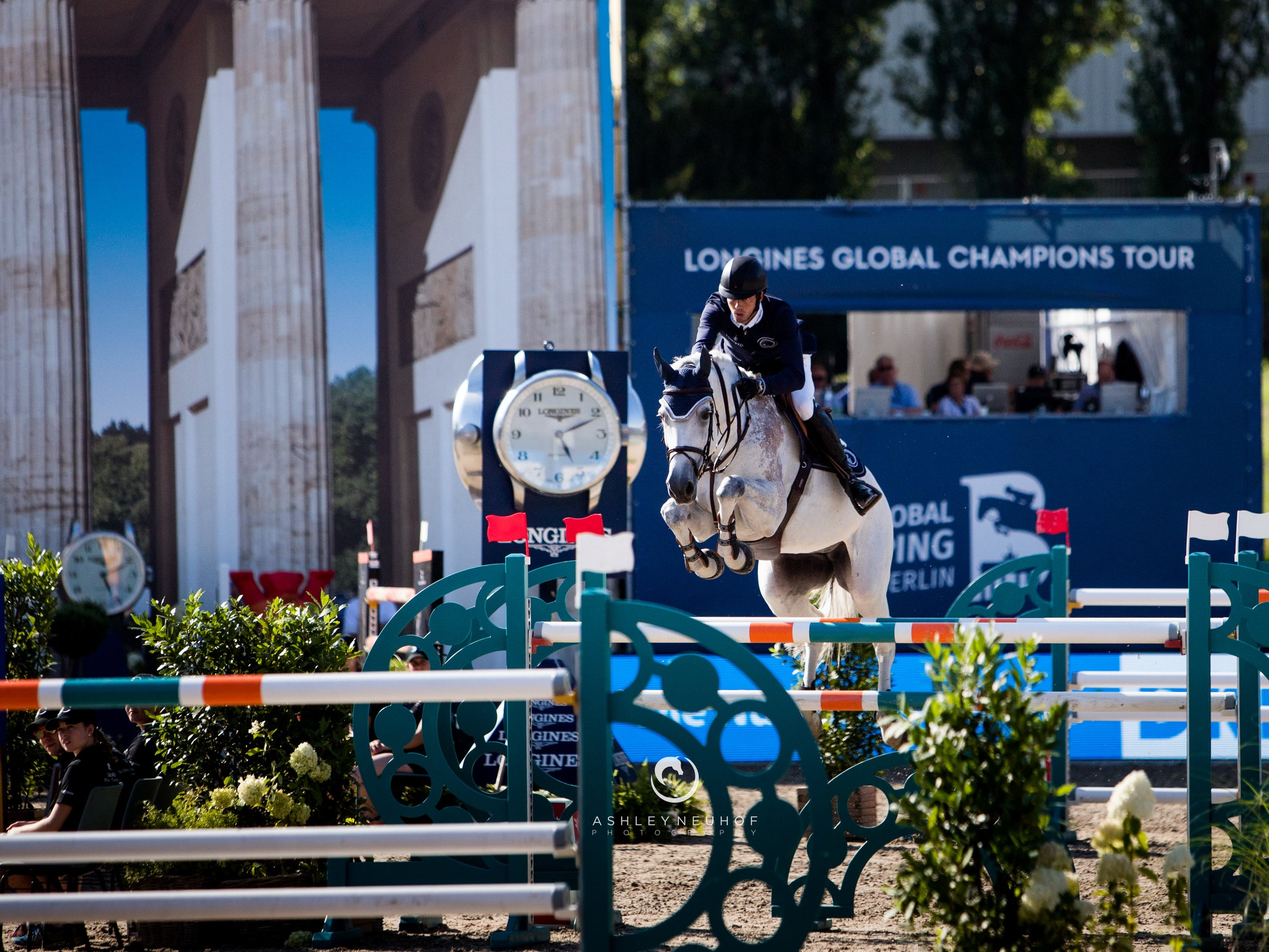 Harrie Smolders and Une de l'Othain at Global Champions League of Berlin 2019. Photo by Ashley Neuhof Photography.