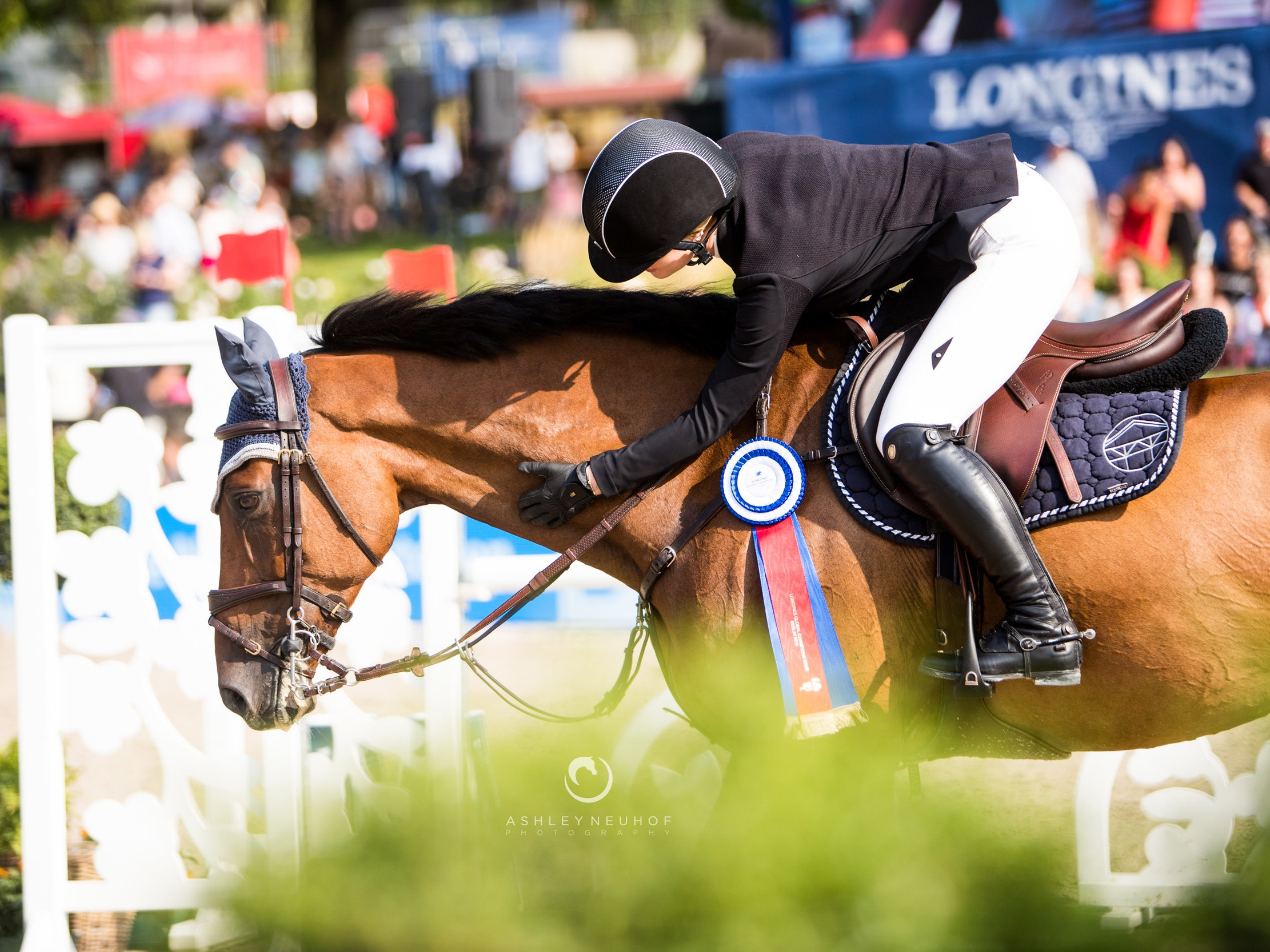 Jenn Gates and Monaco at Longines Global Champions Tour of Berlin 2019. Photo by Ashley Neuhof Photography.