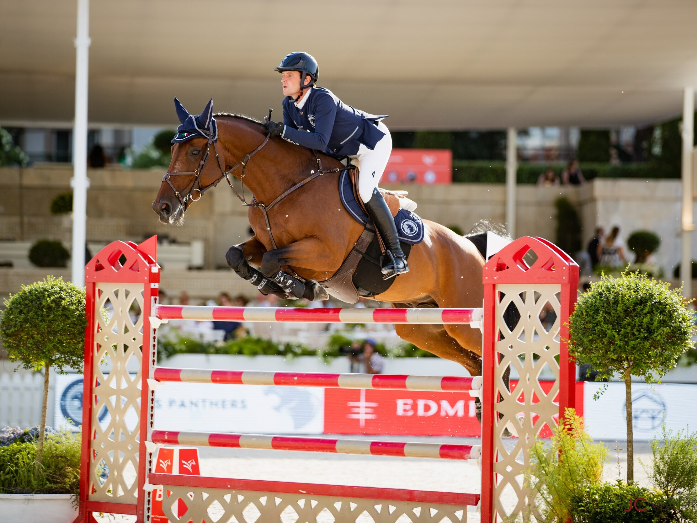 Darragh Kenny and Important de Muze at Global Champions League of Rome 2019. Photo by JC Markun.