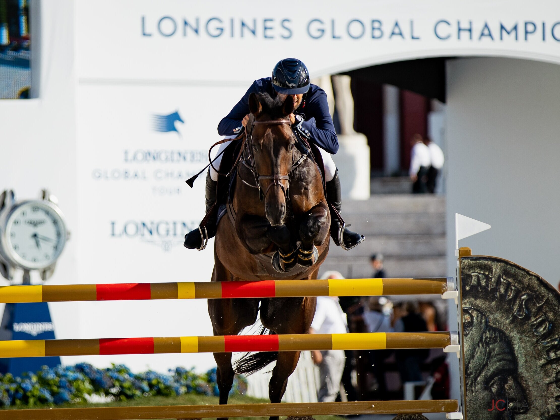 Nayel Nassar and Lucifer V at Global Champions League of Rome 2019. Photo by JC Markun.