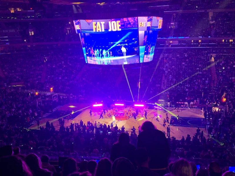 """Our seats for the Knicks game and Fat Joe """"concert"""""""