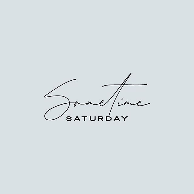 So excited about this logo redesign for @sometime_saturday Swipe to see the options she didn't pick! ⠀⠀ ————— ⠀⠀ #graphicdesign #freelance #logotype #logodesigner #blogger #bloglogo #katherinejezekdesign #dearphotographer #savvybusinessowner #stylingtheseasons #darlingdaily #darlingmovement #simpleandstill #pursuewhatislovely #girlboss #calledtocreate #inspiredbythis #thehappynow #makeithappen #designyourlife #livethelittlethings #petitejoys