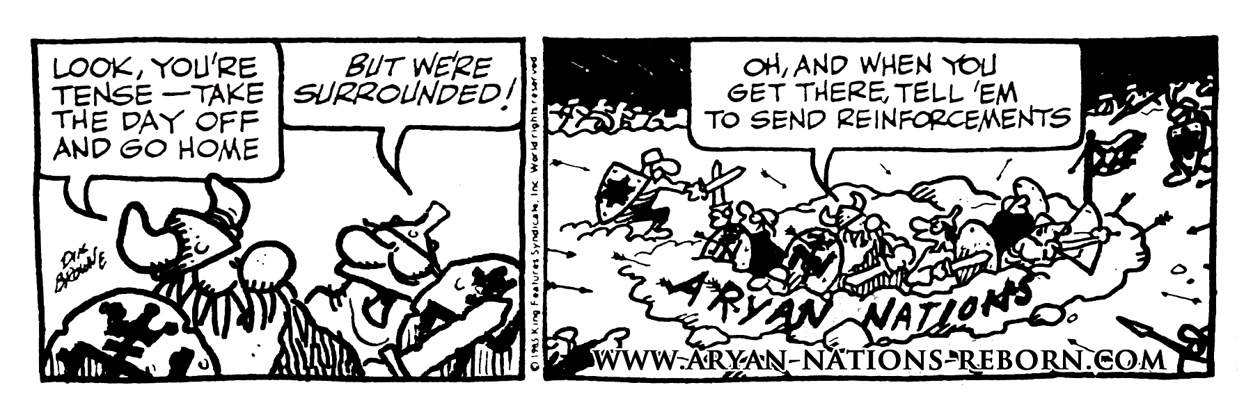 1985 Aryan Nations Comic Strip