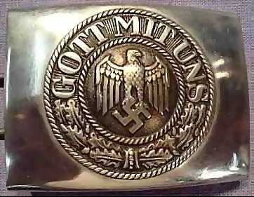 """Gott Mit Uns (God With Us) Nazi Buckle   Enlisted Man's German Army belt buckle (Stamped steel, 1937 pattern, made by """"R S & S"""" for Richard Sieper & Sohne Ludenscheid). Photo from the German Militaria Catalog (their web site no longer exists).  Also see """" Guarding the Führer: Sepp Dietrich, Johann Rattenhuber and the Protection of Adolf Hitler ,"""" Blaine Tayler, 1993, p. 165"""
