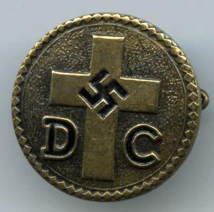 Deutsche Christen Badge  (German Christian Pin) (Source:  Gentleman's Military Interest Club)