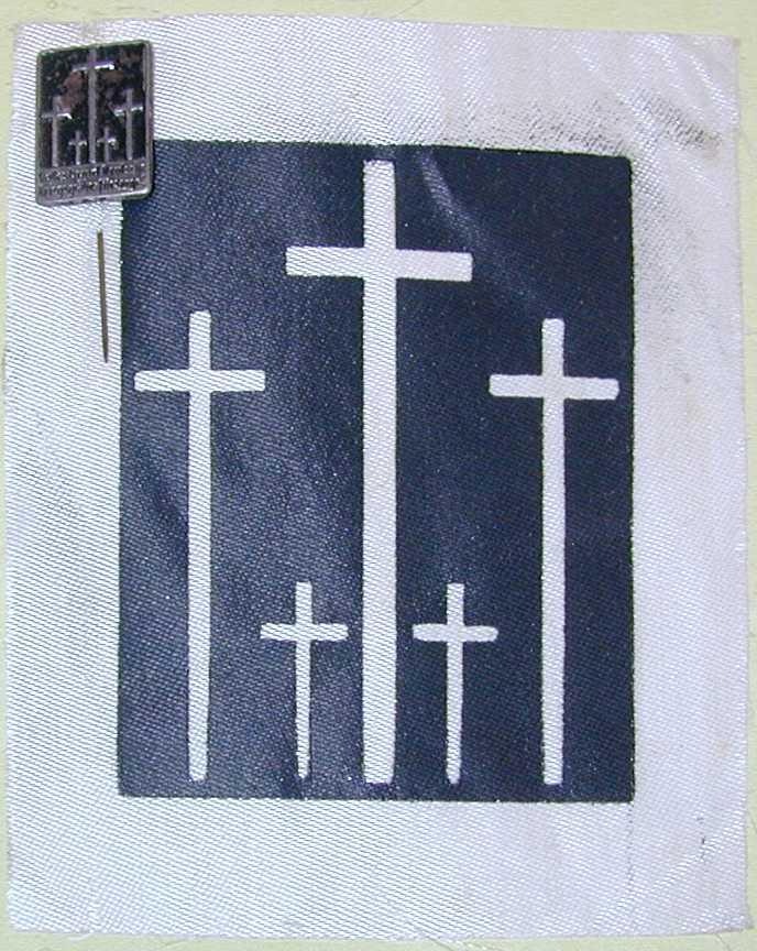 German Volksbund* War Memorial Pin Badge  (Source:  Snyder's Treasures, militaria collectables)
