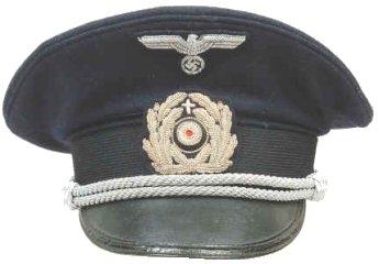 Navy (Kriegsmarine) chaplain's cap  (Source:  Uniforms & Militaria )