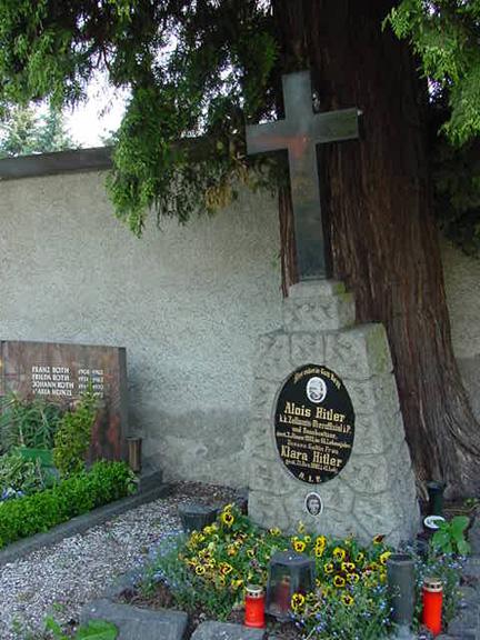Grave of Alois and Klara Hitler in Leonding  (Source:  scrapbookpages )