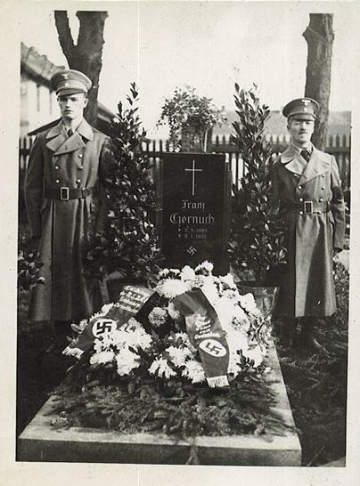 """Nazi funeral  (Source:  Third Reich Depot )  According to the source, this period photo comes from the SS Heimwehr Danzig Funeral/Festivities for Fallen SS Soldiers of the """"Battle of Westerplatte"""" that occured in Poland in 1939."""